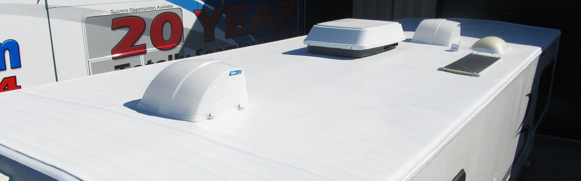rv roof after being repaired